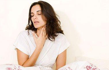 Почему после сна болит горло: 6 основных причин   Деринат