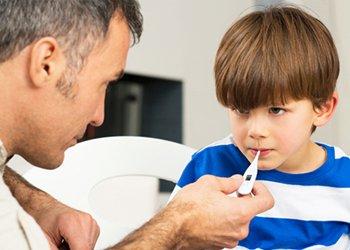 Понижение температуры тела у ребенка при орви